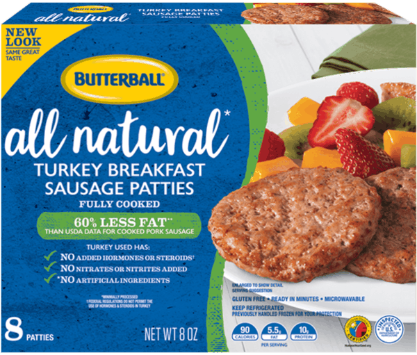 $0.60 for Butterball® Everyday Breakfast Sausage. Offer available at multiple stores.