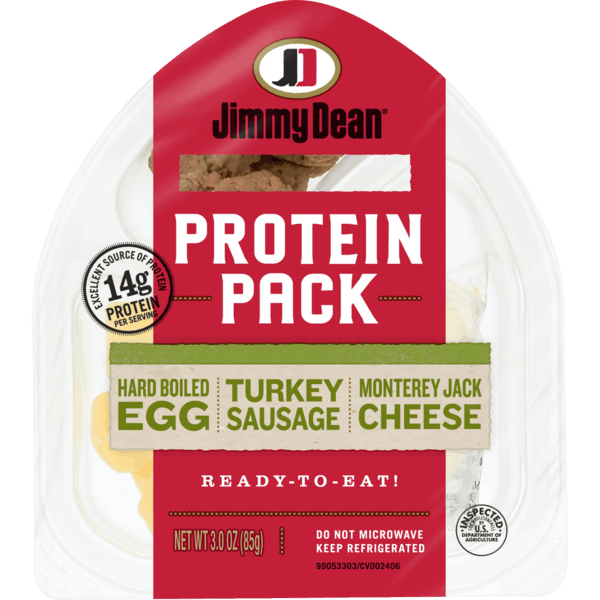 $0.50 for Jimmy Dean® Protein Pack (expiring on Sunday, 11/24/2019). Offer available at multiple stores.