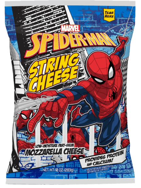 $0.75 for Marvel Spider-Man String Cheese (expiring on Wednesday, 05/02/2018). Offer available at multiple stores.