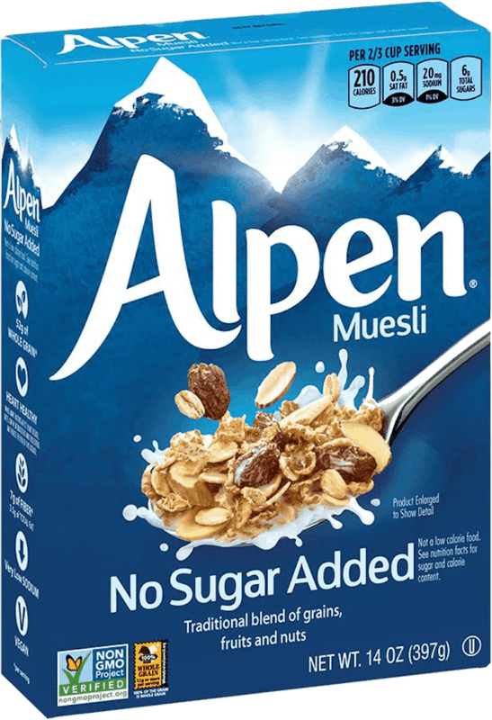 $1.00 for Alpen® Muesli (expiring on Thursday, 04/02/2020). Offer available at multiple stores.