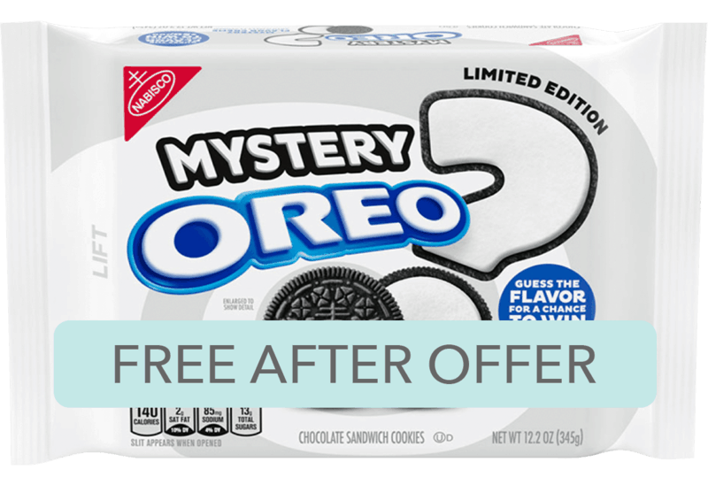 $2.98 for OREO Chocolate Sandwich Cookies, Limited Edition Mystery Flavor Creme (expiring on Monday, 03/23/2020). Offer available at Walmart.