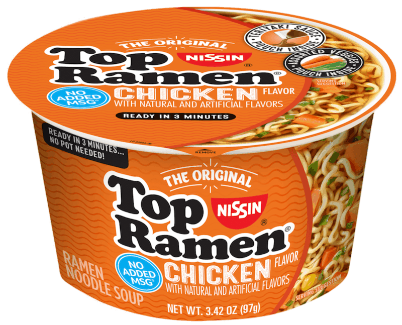 $0.75 for Top Ramen Bowl (expiring on Thursday, 07/02/2020). Offer available at Walmart.