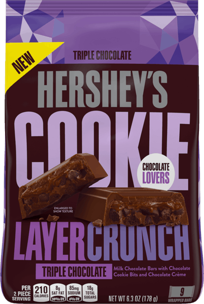 $1.00 for Hershey's® Cookie Layer Crunch. Offer available at Walmart.