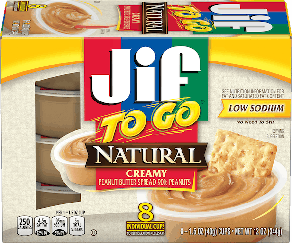 $0.50 for Jif To Go® Peanut Butter (expiring on Thursday, 05/02/2019). Offer available at multiple stores.