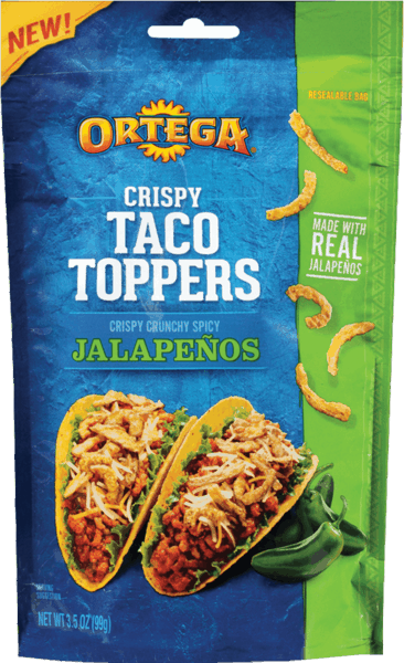$0.50 for Ortega® Crispy Taco Toppers. Offer available at multiple stores.