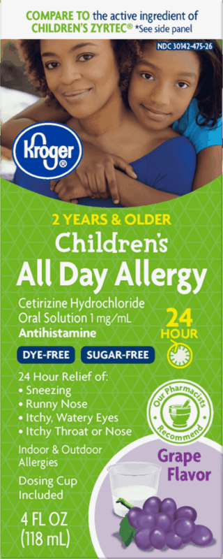 $1.75 for Kroger Children's All Day Allergy Relief (expiring on Saturday, 04/18/2020). Offer available at multiple stores.