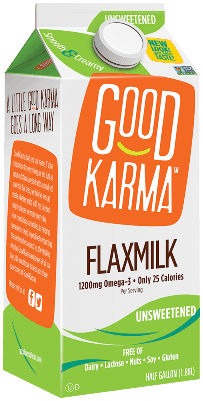 $0.75 for Good Karma Plant-Based Milk (expiring on Wednesday, 05/01/2019). Offer available at multiple stores.