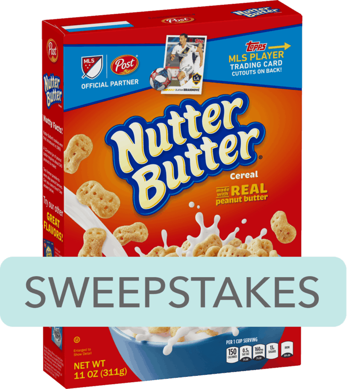 $0.25 for Post® NUTTER BUTTER® Flavored Cereal (expiring on Saturday, 02/08/2020). Offer available at Walmart.