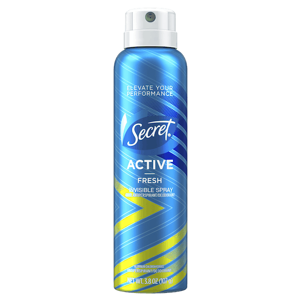 $2.00 for Secret® Active Invisible Spray Antiperspirant and Deodorant (expiring on Thursday, 08/02/2018). Offer available at multiple stores.