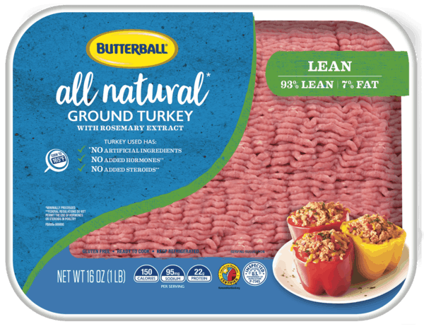 $1.00 for Butterball® All Natural Fresh 93% Lean Ground White Turkey 16 oz. Tray (expiring on Monday, 04/01/2019). Offer available at multiple stores.
