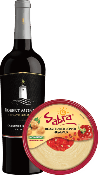 $3.75 for Sabra® Hummus and Robert Mondavi® Private Selection Wine (expiring on Wednesday, 04/25/2018). Offer available at multiple stores.