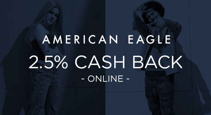 $0.00 for American Eagle (expiring on Saturday, 02/29/2020). Offer available at American Eagle.