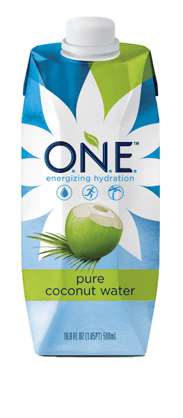 $0.50 for O.N.E.™ Pure Coconut Water (expiring on Saturday, 03/02/2019). Offer available at multiple stores.