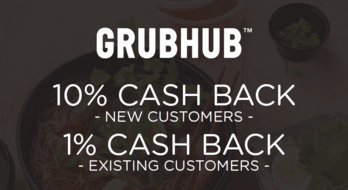 $0.00 for Grubhub (expiring on Sunday, 11/29/2020). Offer available at Grubhub.