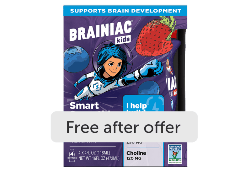 $2.99 for Brainiac Kids Yogurt Drink (expiring on Monday, 02/01/2021). Offer available at multiple stores.