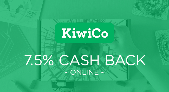 $0.00 for KiwiCo (expiring on Wednesday, 04/30/2025). Offer available at KiwiCo.
