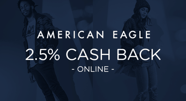 $0.00 for American Eagle (expiring on Wednesday, 11/21/2018). Offer available at AmericanEagle.com.