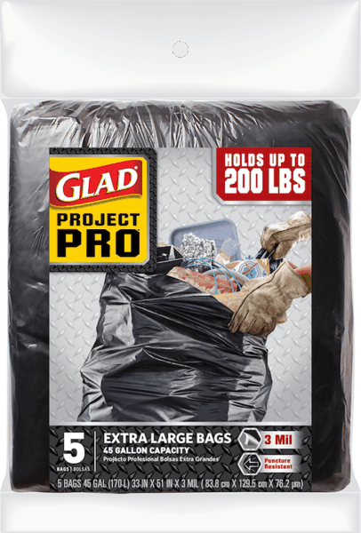$1.00 for Glad® Project Pro Trash Bags (expiring on Wednesday, 01/02/2019). Offer available at Walmart.