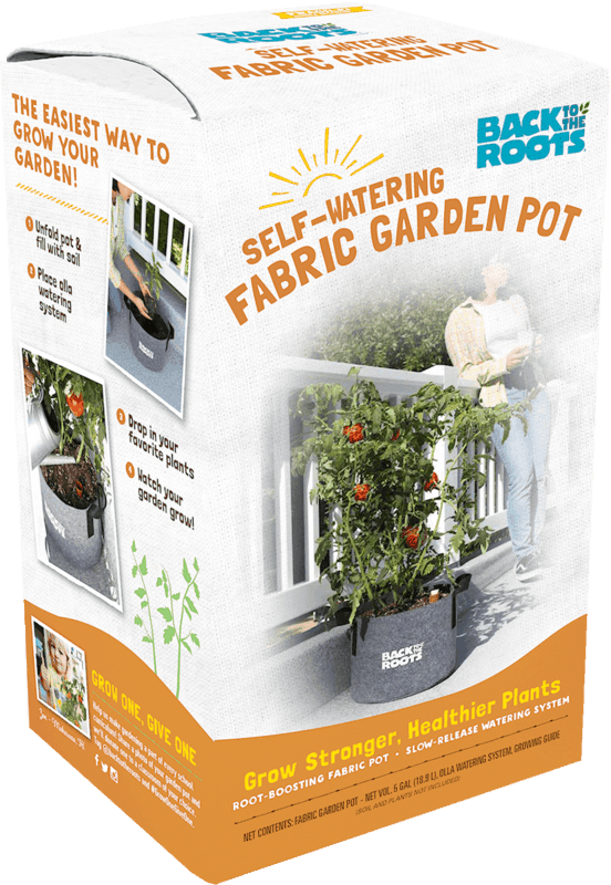 $10.00 for Back to the Roots Self-Watering Fabric Garden Pot (expiring on Friday, 04/24/2020). Offer available at Walmart, Walmart Grocery.