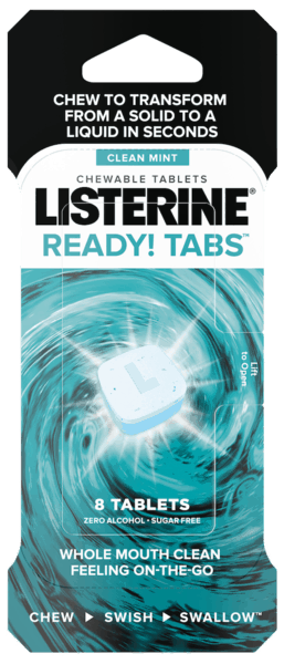 $0.50 for LISTERINE® READY! TABS™ Chewable Tablets Clean Mint (expiring on Monday, 11/19/2018). Offer available at Walmart.
