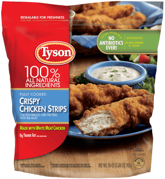$1.00 for Tyson® Chicken Strips (expiring on Saturday, 06/02/2018). Offer available at multiple stores.