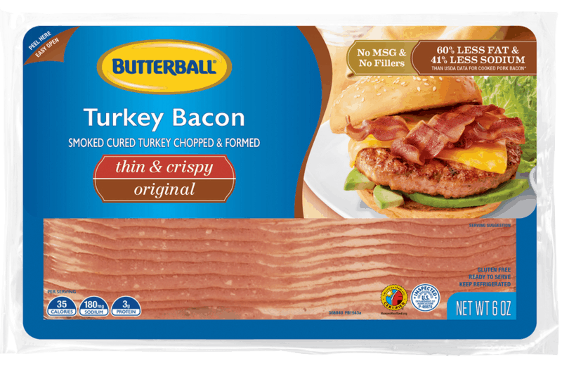 $0.50 for Butterball® Everyday Thin and Crispy Turkey Bacon (expiring on Sunday, 02/02/2020). Offer available at Walgreens.