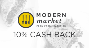 $0.00 for Modern Market (expiring on Friday, 11/30/2018). Offer available at Modern Market.