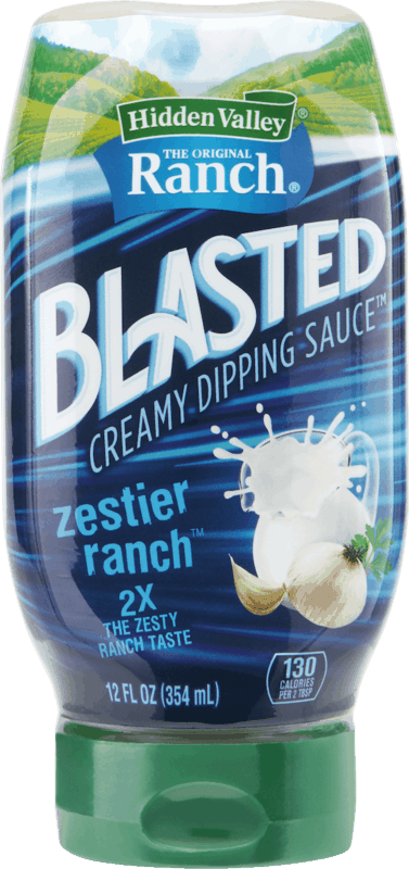 $1.00 for Hidden Valley Ranch® Zestier Ranch Blasted Dipping Sauce. Offer available at Walmart.