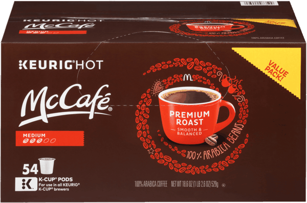 $5.00 for McCafe® Premium Roast Coffee K-Cup Pods. Offer available at Walmart.com.