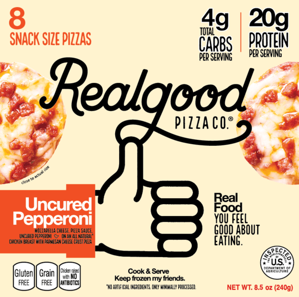 $2.50 for Real Good Foods® Pizza Snacks. Offer available at Walmart.