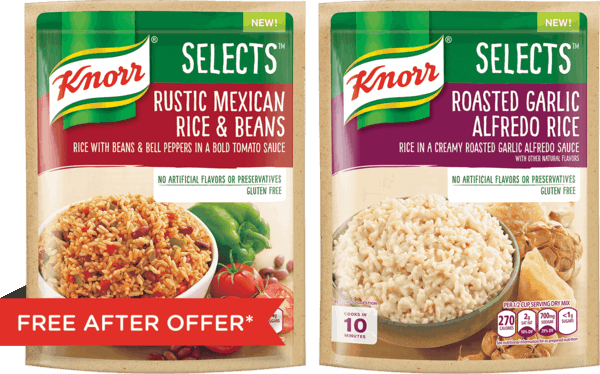 $2.00 for Knorr® Selects™. Offer available at Walmart.