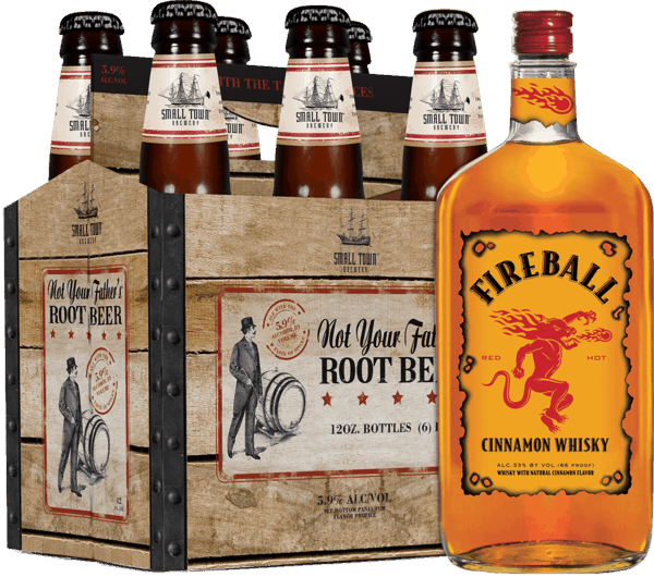 $3.00 for Not Your Father's & Fireball Cinnamon Whisky. Offer available at multiple stores.