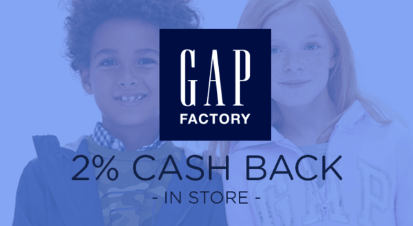 $0.00 for Gap Factory (expiring on Thursday, 05/02/2019). Offer available at Gap Factory.