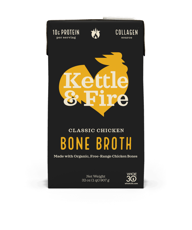 $1.00 for Kettle & Fire Bone Broth. Offer available at multiple stores.