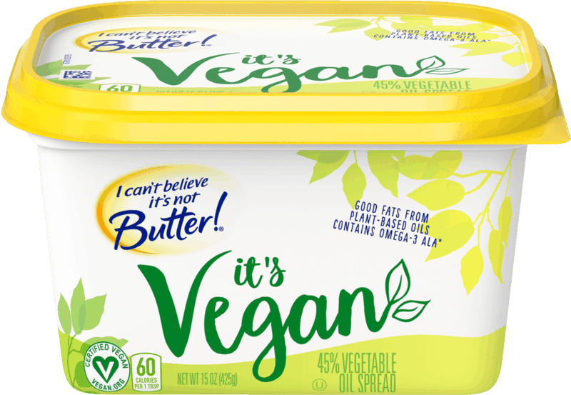 $0.50 for I Can't Believe It's Not Butter! It's Vegan buttery spread (expiring on Saturday, 10/31/2020). Offer available at Albertsons, Albertsons Market.