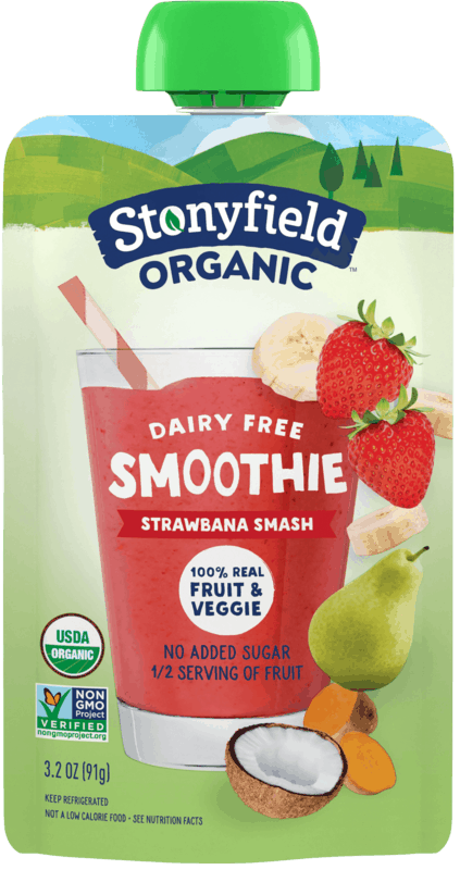 $0.50 for Stonyfield® Organic Fruit & Veggie Smoothie Pouch (expiring on Saturday, 06/06/2020). Offer available at multiple stores.