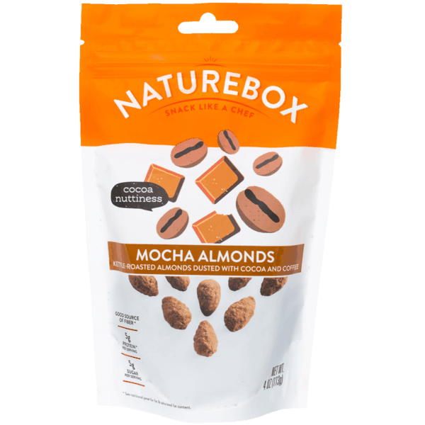 $1.00 for NatureBox Mocha Almonds. Offer available at Safeway, Sprouts Farmers Market, Cost Plus.