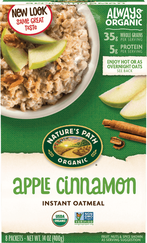 $0.50 for Nature's Path Organic Oatmeal (expiring on Saturday, 01/01/2022). Offer available at Walmart, Walmart Pickup & Delivery.