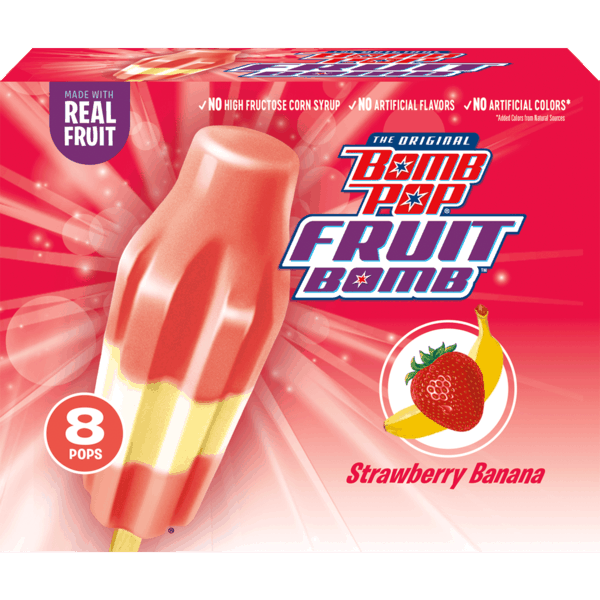 $0.75 for Bomb Pop® Fruit Bomb™ Frozen Novelty Pack (expiring on Thursday, 11/08/2018). Offer available at multiple stores.