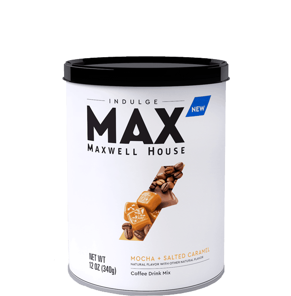 $1.00 for MAX Indulge Maxwell House Coffee Drink Mix. Offer available at Walmart.
