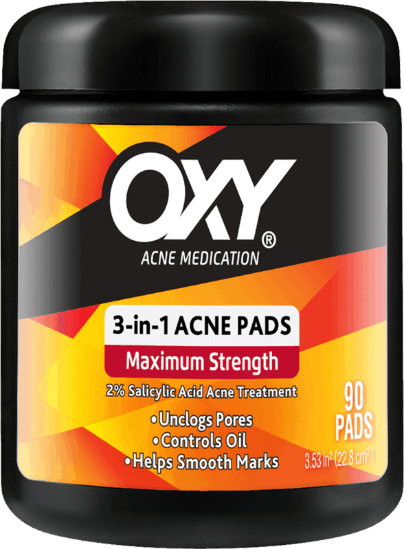 $0.75 for OXY 3-in-1 Maximum Strength Acne Pads (expiring on Sunday, 03/01/2020). Offer available at multiple stores.