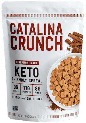 $1.00 for Catalina Crunch Keto-Friendly Cereal (expiring on Saturday, 08/21/2021). Offer available at multiple stores.