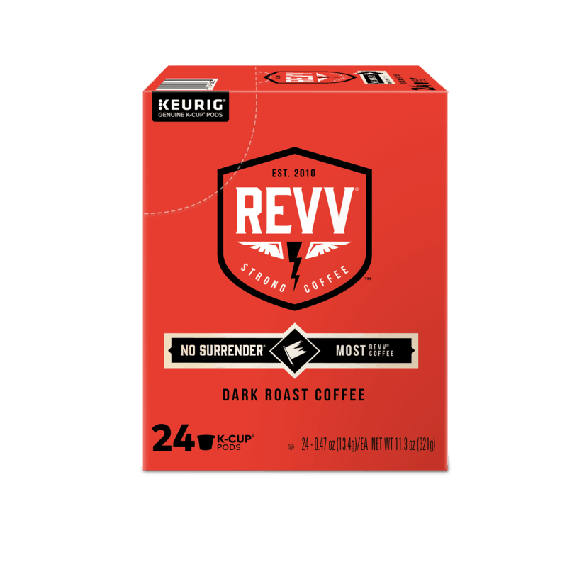 $4.25 for REVV Coffee No Surrender K-Cup Pods (expiring on Wednesday, 04/08/2020). Offer available at Walmart.