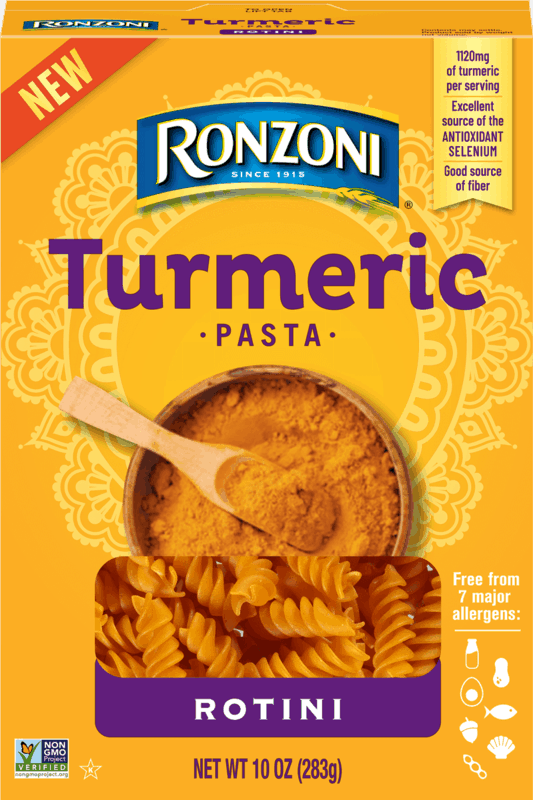 $0.75 for Ronzoni Turmeric Pasta (expiring on Sunday, 08/02/2020). Offer available at Publix.