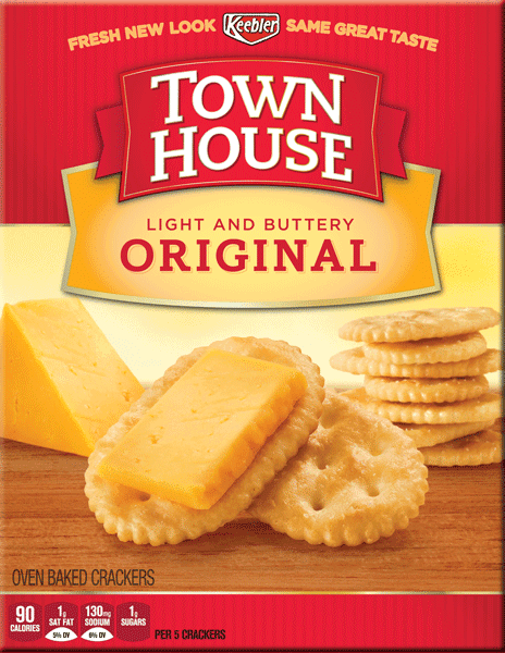 $0.50 for Town House® Original Crackers (expiring on Monday, 01/22/2018). Offer available at Walmart.
