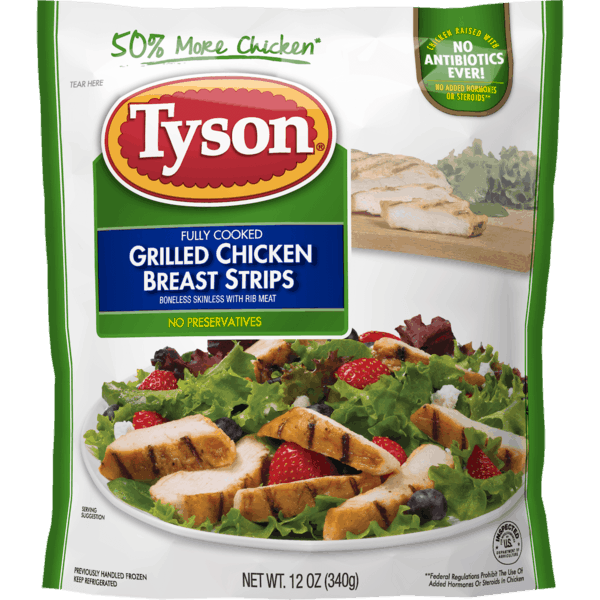 $1.50 for Tyson® Refrigerated Fully Cooked Chicken (expiring on Tuesday, 02/27/2018). Offer available at Walmart.