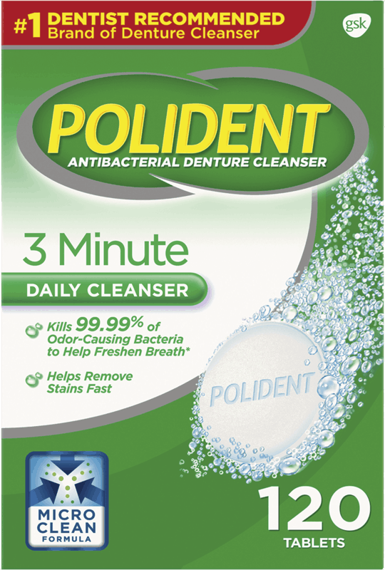 $1.50 for Polident Denture Cleanser (expiring on Wednesday, 07/17/2019). Offer available at Walmart.