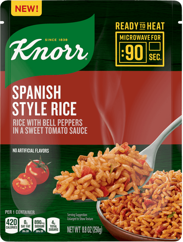 $0.50 for Knorr Ready to Heat Spanish Style Rice (expiring on Thursday, 07/02/2020). Offer available at multiple stores.