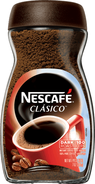 $1.00 for Nescafé® Clásico™ Instant Coffee. Offer available at Walmart.