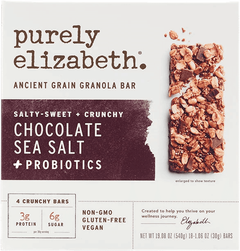 $1.50 for Purely Elizabeth Ancient Grain Granola Bars (expiring on Sunday, 08/02/2020). Offer available at Walmart.